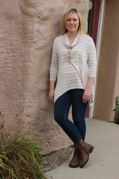 This soft cowl neck top is so comfy and fun for fall...  paired with our Flying Monkey jeans & short brown boots from the Hearts Collection...  so pretty...   ‪#‎ishoptheloft‬ ‪#‎fashion‬ ‪#‎nowtrending‬ ‪#‎style‬ ‪#‎ootd‬ ‪#‎mystyle‬ ‪#‎boutiquelove‬ ‪#‎trendy‬ ‪#‎shopsmall‬ ‪#‎follow‬