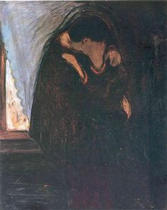 Kiss - Edvard Munch, 1897, oil on canvas, 99 cm x 81 cm, The Munch Museum, Oslo, Norway