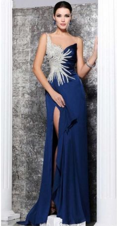 Royal Blue Lace A LINE Evening Gown With #prom #promdress #dress #eveningdress #evening #fashion #love #shopping #art #dress #women #mermaid #SEXY #SexyGirl #PromDresses