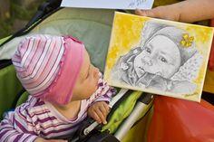 Portrait of children by photos
