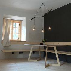 idées de déco pour le salon lampe suspension en bois DIY