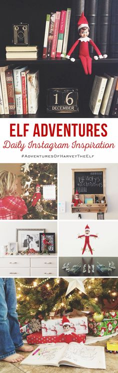 Follow along with the adventures of Harvey the Elf! Daily, no-fuss Elf on the Shelf inspiration on Instagram throughout the month of December.