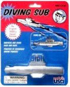 Toysmith Submarine Model Kits Diving Submarine Classic Toys Water Toys Brand New #Toysmith