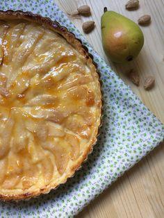 Tarta de pera y almendras