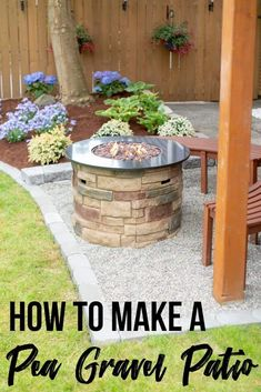 Backyard Makeover Final Reveal Get backyard ideas on a budget! This DIY backyard makeover includes a fire pit, landscaping and a gravel patio for the perfect summer hangout spot! Get all the details at The Handyman's Daughter! Budget Patio, Diy Patio, Fire Pit Backyard, Backyard Patio, Backyard Landscaping, Backyard Ideas, Landscaping Ideas, Backyard Playground, Easy Patio Ideas