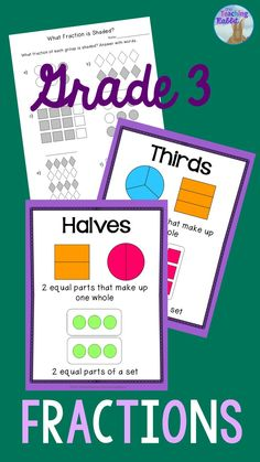 This Fractions Unit for Grade 3 is aligned with the Ontario Curriculum Expectations.  It has worksheets, activities, task cards, and a test!