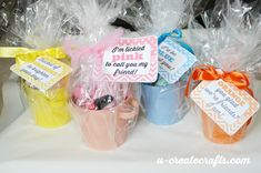 Buckets of COLOR printable tags - pick a color and create a simple gift!
