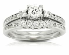 Estate Diamond Wedding Set Diamond Wedding Sets, Wedding Bands, White Gold, Jewels, Engagement Rings, Stone, Collection, Color, Enagement Rings