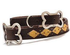 Love the leather argyle and dog bone buckle