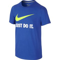 Boys 8-20 Nike Just Do It Swoosh Graphic Tee, Size: Medium, Blue Other