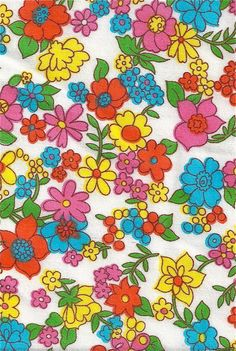 Groovy Floral Mid-Century Fabrics Part 11 (x)(x). - The Groovy Archives Hippie Wallpaper, Trippy Wallpaper, Retro Wallpaper, Aesthetic Iphone Wallpaper, Aesthetic Wallpapers, Bedroom Wall Collage, Photo Wall Collage, Picture Wall, Collage Collage