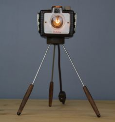 Handmade Vintage Camera Lamp Kodak Holiday by RetroBender on Etsy, $150.00