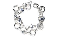 September birthstone: Sapphire crystals & silver.  Find more projects on BeadStyleMag.com