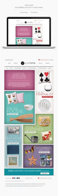 Gift Guide Email by Cambria Schirle, via Behance