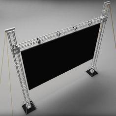 max telebim scaffolding led screen