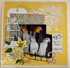 Triple the Scraps: More {Memory Box} Layouts and Cards