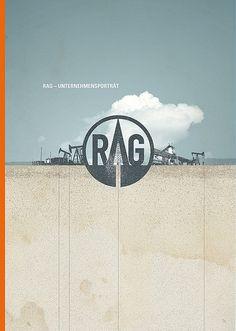 Cover for the company portrait brochure of RAG Rohöl-Aufsuchungs AG, Austria.