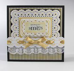 0213 YG Blog Frenzy - Sending you Smiles.jpg 1,600×1,558 pixels Spellbinders Floral Ribbon Threader Card Creator Dies