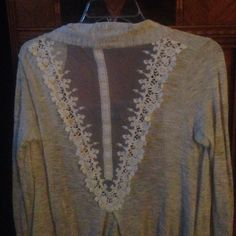 Shirt with lace back Never worn Maurices Tops
