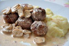 Boulettes de boeuf à la crème et aux champignons - Dans la cuisine d'Audinette