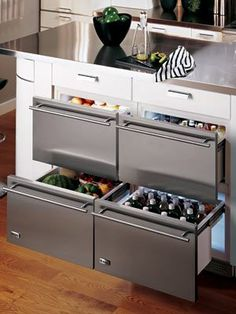 Refrigerator drawers yes