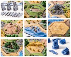 3D 'Settlers of Catan' set by CatanCustoms on Etsy