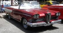 Ford Edsel 58 convertible. Red and White color