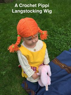 A crochet Pippi Langstocking -Wig for a kid who loves Pippi.