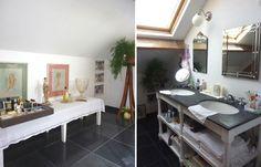 Décorer une salle de bains : une salle de bains chic et zen - Visite et décoration d'une maison de campagne en Picardie