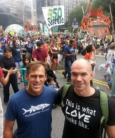 Gary Wockner and Tim DeChristopher at the People's Climate March.