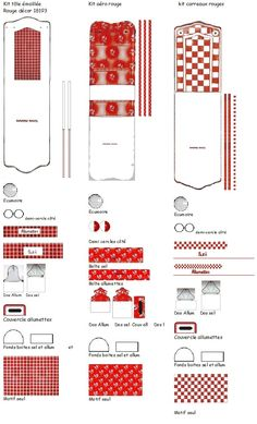 KITS ensembles rouges tôle émaillée Création VM