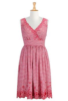 Floral gingham check dress-- $40 OFF your first order with code THEC1HEC  {I adore this shop in case you can't tell by looking at my board lol}  eshakti.com
