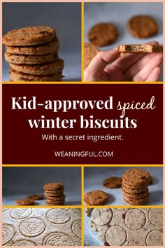 While Christmas is all about gingerbread baking, these biscuits are a great sugar-free alternative to make with the kids this year. Baby friendly from 6 months and up, they make great gifts too: just stack them in a jar. Baby Meals, Kid Meals, Meals For One, Healthy Baby Food, Healthy Meals For Kids, Healthy Recipes, Easy Recipes, Baby First Foods, Baby Finger Foods