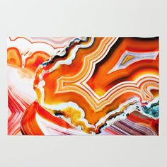 The Vivid Imagination of Nature, Layers of Agate by Elena Kulikova RUG / 4' X 6' $79.00