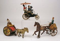 """3 TIN TOYS: a Lehmann """"New Century Cycle."""" Image courtesy of liveauctioneers.com and Paul Marinsscci."""