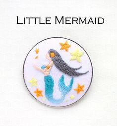 『人魚姫』ブローチ刺繍キット | net store ~アンナとラパン