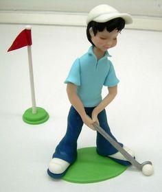 Golfer cake topping....