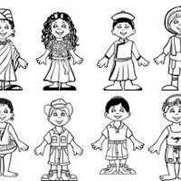 coloring pages ethnic children | children coloring pages to print 2 | Kleurprenten ...