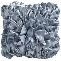 Flounce Pillow - Smoke Blue   Pier 1 Imports