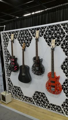 Nice guitars, right?  These were actually 3D printed in an 11-hour process!  Unfortunately, we didn't get a chance to hear them.