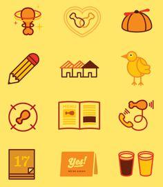 Kickin' Chicken icons from Fuzzco