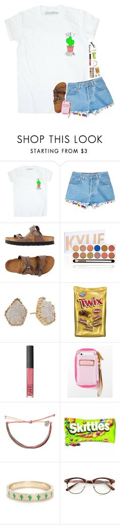 """""""summer reading, yay *sarcasm😒"""" by sydneenxcole ❤ liked on Polyvore featuring Forte Forte, Birkenstock, Kendra Scott, NARS Cosmetics, Lilly Pulitzer, Pura Vida, Kate Spade and Athleta"""