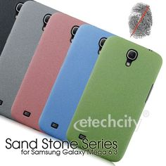 Sand Stone Series Anti-Fingerprint PC Case for Samsung Galaxy Mega 6.3 i9200 i9205 [PCAF-SMG9200] - $15.00