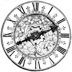 steampunk clock drawing - Google Search