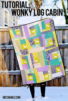 Tutorial: Wonky Log Cabin Quilt