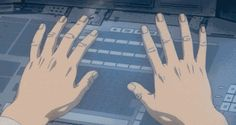 New party member! Tags: keyboard typing fingers ghost in the shell