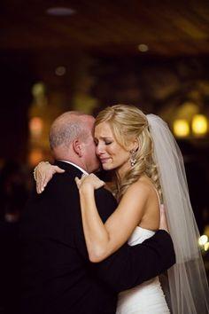 style me pretty - real wedding - usa - michigan - hartland wedding - river birch lodge - bride & father - dance
