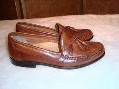 Giorgio Brutini Sz 8.5D Men's Brown Tassel & Fringe Moc Toe Loafer Shoes  #GiorgioBrutini #LoafersSlipOns