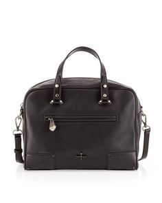 Marcelle Leather Satchel Bag, Black by Pour la Victoire at Last Call by Neiman Marcus.