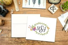 Personalized thank you notes, note cards, blossoms notecards, wedding notecards, stationery, letterhead